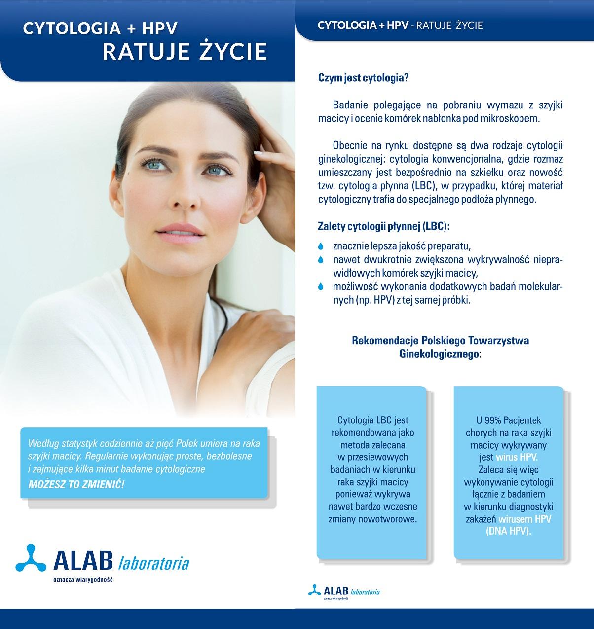 ulotka cytologia HPV_alab laboratoria