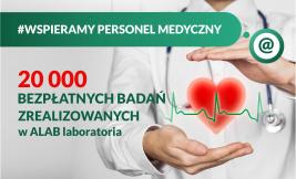 20 000 BEZPŁATNYCH BADAŃ ZREALIZOWANYCH W ALAB laboratoria